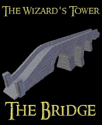 3D Printed Miniatures 3d Printed Terrain Wizard's Tower - Tower Bridge Set