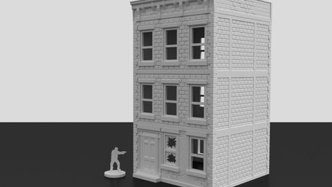 3D Printed Terrain Urban Apartment Building 'B' 3 Stories