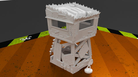 3D Printed Terrain Greenskin Lookout Tower