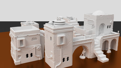 3D Printed Terrain Pilgrim City Bundle