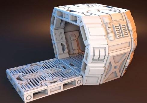 image relating to Free 3d Printable Terrain titled 3D Revealed Miniatures 3d Released Terrain Orbital Outpost Mini Hub Fixed