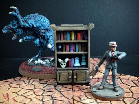 3D Printed Terrain Delving Decor: Wizard's Shelf