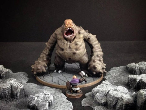 3D Printed Miniatures Cave Lurker