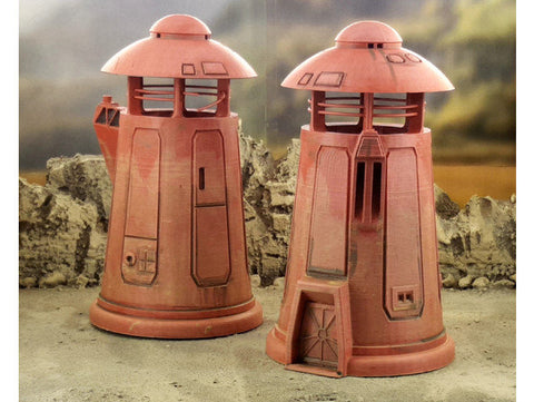 3D Printed Terrain Sci-fi Watch Tower