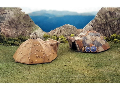 3D Printed Terrain Barbarian Tents
