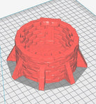 3D Printed Miniatures 3d Printed Terrain Wizard's Tower - Tower Base Section