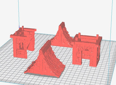 3D Printed Miniatures 3d Printed Terrain Wizard's Tower - Guard House