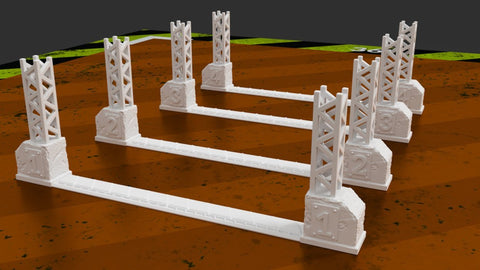 3D Printed Terrain Gaslands Death Race Gates