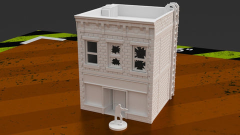 3D Printed Terrain Urban 3 Story Stackable Shop