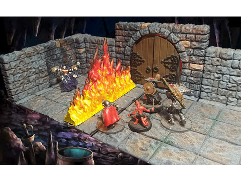 3D Printed Terrain Wall of Fire
