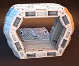 3D Printed Miniatures 3d Printed Terrain Orbital Outpost Mini Hub Set