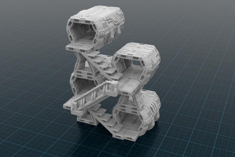 3D Printed Miniatures 3d Printed Terrain Orbital Outpost Tower Starter Set