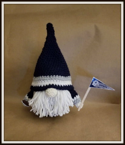 Dallas Cowboys Football Gnome with Beard | Dallas Cowboys Gnome | About 9 1/2 in tall | NEW | HANDMADE to Order