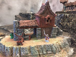 The Blacksmith Shop  - Wargames Tabletop Scenery 3D Printed - Standard Size Set - Miniatures