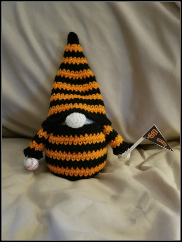 San Francisco Giants Baseball Gnome | Baseball Gnome | About 9 1/2 inches | NEW | Handmade to Order