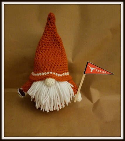 Texas Longhorns Gnome with Beard| Football Gnome | About 9 1/2 in tall | NEW | HANDMADE to Order