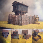 Hunting Lodge - Wargames Tabletop Scenery 3D Printed - Miniatures