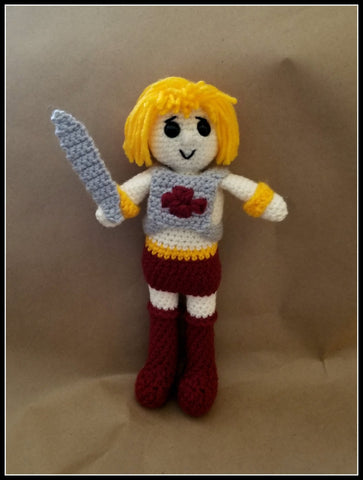 He-Man Doll | About 10in | NEW | HANDMADE CROCHET