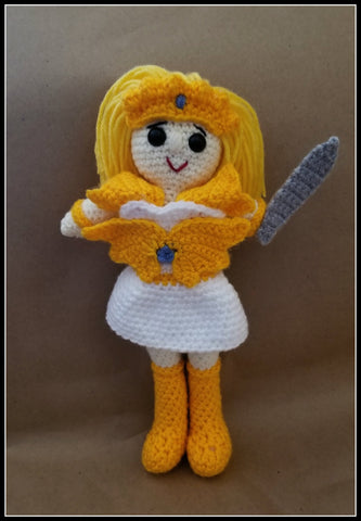 She-Ra Doll | About 10in | NEW | HANDMADE CROCHET Shera