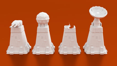 3D Printed Terrain Colony Comms Tower - 3D Printed Miniatures