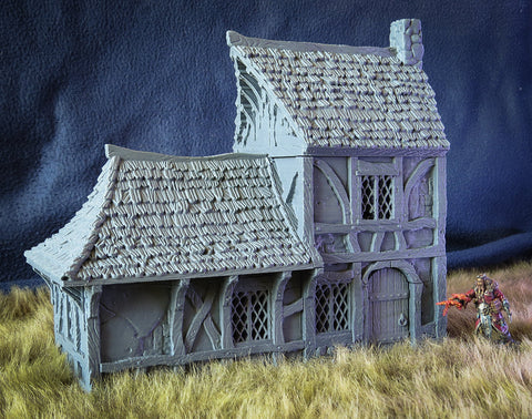3D Printed Terrain - BSG: City Of Tarok - Medieval House 2