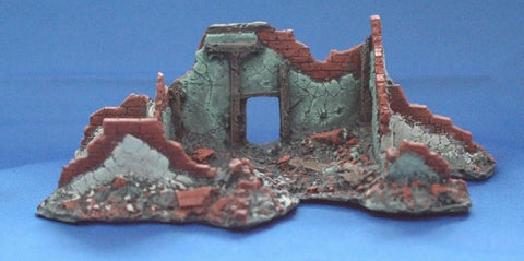 Terrain FOW Compatible 15mm WWII Euro 2 Bombed Out House Cast In Resin