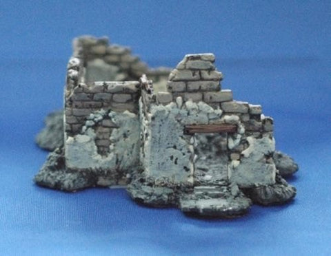 Terrain FOW Compatible 15mm WWII Euro 1 Bombed Out House Cast In Resin
