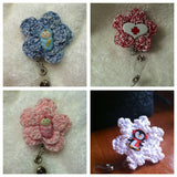 ID Badge Clip, Lanyard, Key Clip Custom Made Perfect for Mom, Nurse, Friend, and so much more Handmade Crochet Made to Order