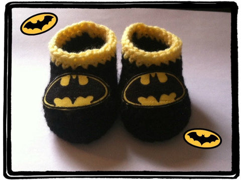 BATMAN Baby Booties | Batman Baby Shower Gift | 0-3 months 3-6 months | NEW | Made For The Size You Need