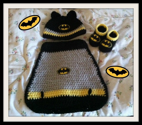 BATMAN Baby Photo Prop | Batman Baby Costume | Cape Hat Booties | NEW |Handmade to Order