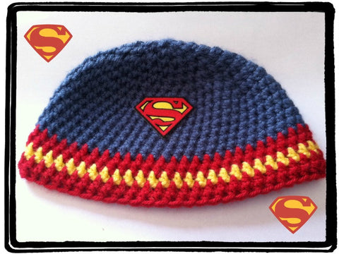 Superman Hat | Adult Size Unisex | NEW | HANDMADE to Order