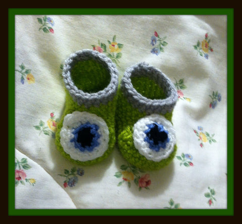 MONSTER'S Inc Mike Wazowski Baby Booties | Monster's Inc Baby Shower Gift | 0-3 months 3-6 months | NEW | Made For The Size You Need