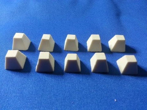 D&D Terrain 28mm War Game Terrain - Set of 10 Dragon Teeth stones - 15mm scale #HA14040 Cast In Resin
