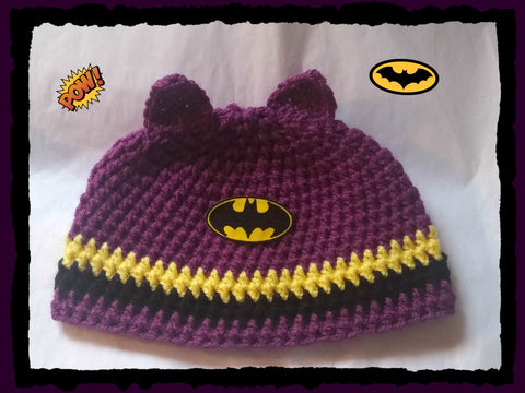Batgirl Hat | Adult Size Unisex | NEW | Made For The Size You Need