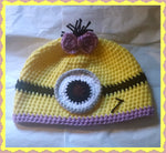 Minion Girl Hat | Adult Size Unisex | NEW | Made For The Size You Need