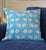 Blue and White Quilted Throw Pillow Cover