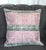 Subtle Distressed Pink and Black Canvas Throw Cushion Cover