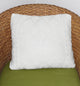 White Crochet Pillow Cover