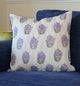 Lilac Purple Floral Quilted Throw Pillow Cover