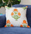 Vibrant Orange Flower Quilted Throw Pillow Cover