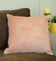 Pinstriped Peach and White Quilted Throw Pillow Cover