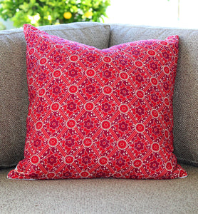 Moroccan Mosaic Quilted Throw Pillow Cover