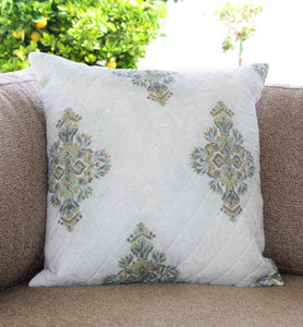Pastel Patterned Quilted Throw Pillow Cover