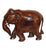 Classic Wood Grain Detail Elephant Figurine