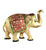 Carved Brass Elephant With Meenakari Work - Little Elephant