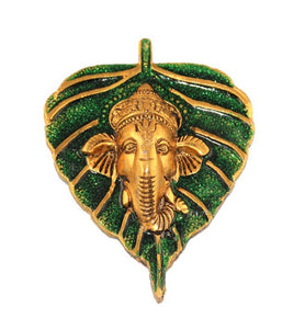 Brass Lord Ganesha Wall Hanging - Little Elephant