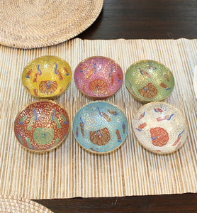 Brass Enamel Bowls Set of 3 - Little Elephant