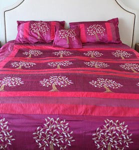 Silk Tree Of Life Bedspread Set - Little Elephant
