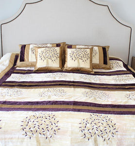 Velvet Tree Of Life Bedspread Set - Little Elephant