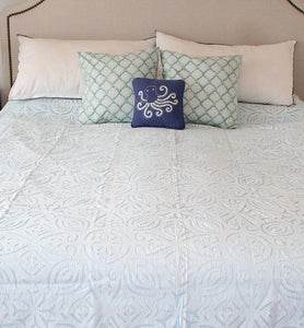 Applique Cut Work Bedspread - Little Elephant